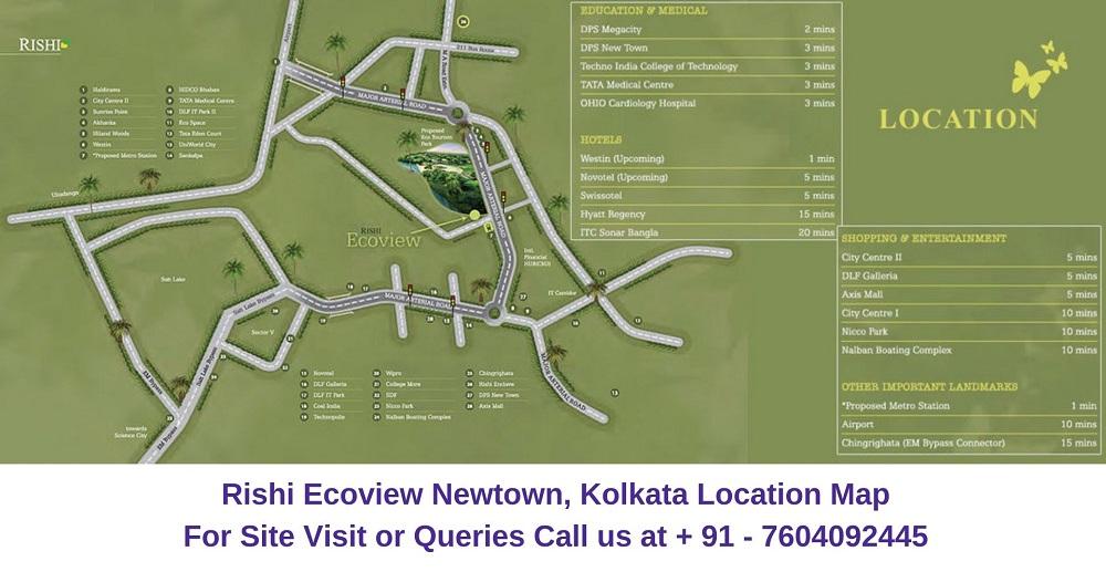 Rishi Ecoview Newtown, Kolkata Location Map