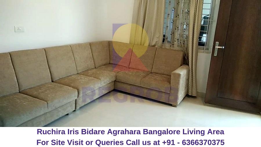 Ruchira Iris Bidare Agrahara Bangalore Living Area