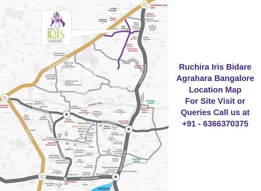 Ruchira Iris Bidare Agrahara Bangalore Location Map