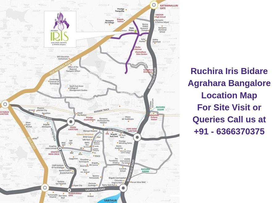 Ruchira Iris Bidare Agrahara Bangalore Location Map