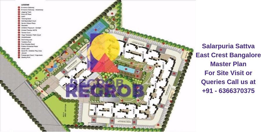 Salarpuria Sattva East Crest Bangalore Master Plan