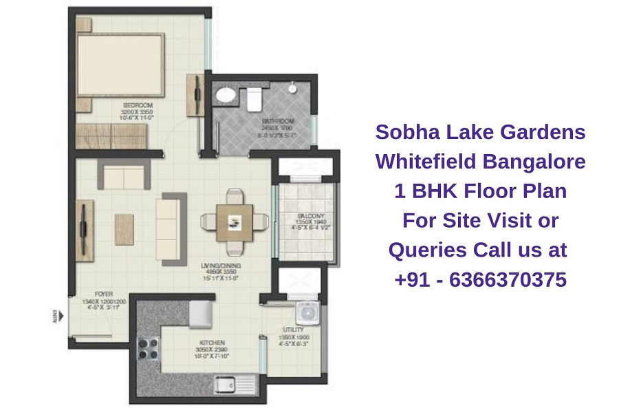 Sobha Lake Gardens Whitefield Bangalore 1 BHK Floor Plan