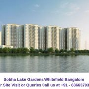 Sobha Lake Gardens Whitefield Bangalore Elevation