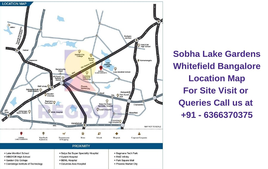 Sobha Lake Gardens Whitefield Bangalore Location Map