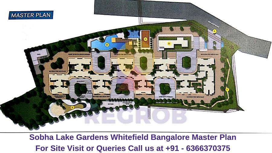 Sobha Lake Gardens Whitefield Bangalore Master Plan