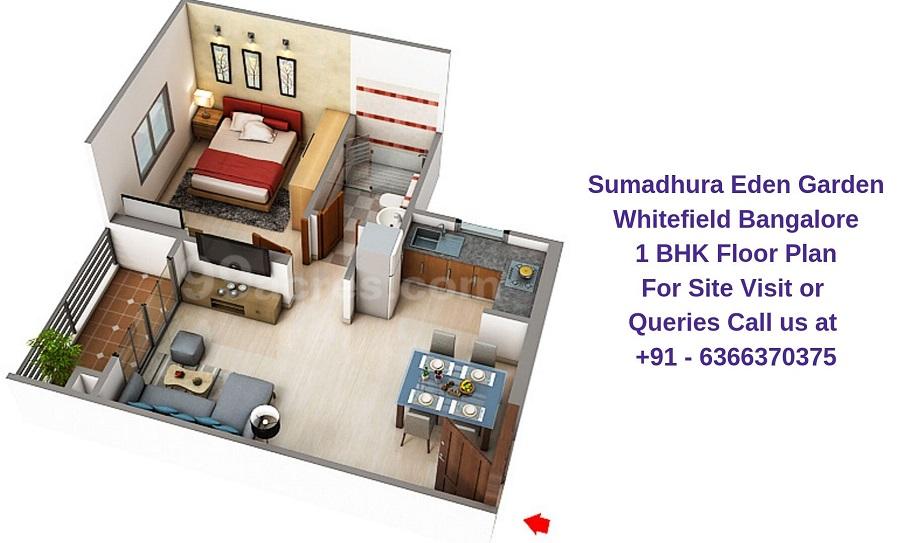 Sumadhura Eden Garden Whitefield Bangalore 1 BHK Floor Plan
