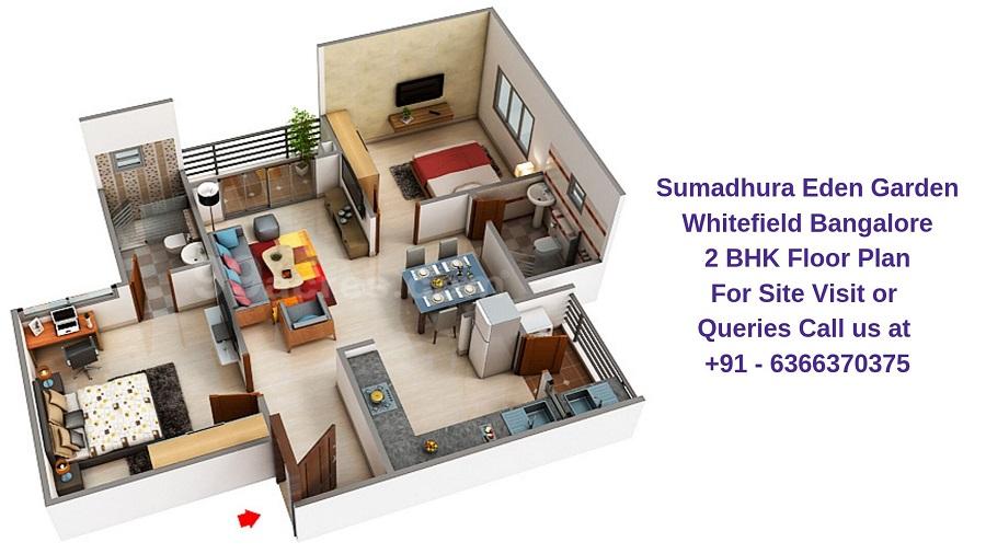 Sumadhura Eden Garden Whitefield Bangalore 2 BHK Floor Plan