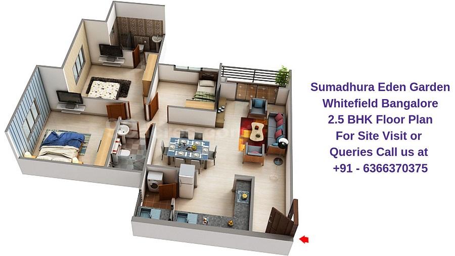 Sumadhura Eden Garden Whitefield Bangalore 2.5 BHK Floor Plan