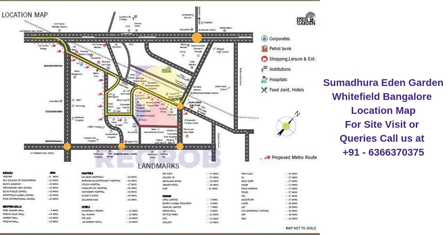 Sumadhura Eden Garden Whitefield Bangalore Location Map