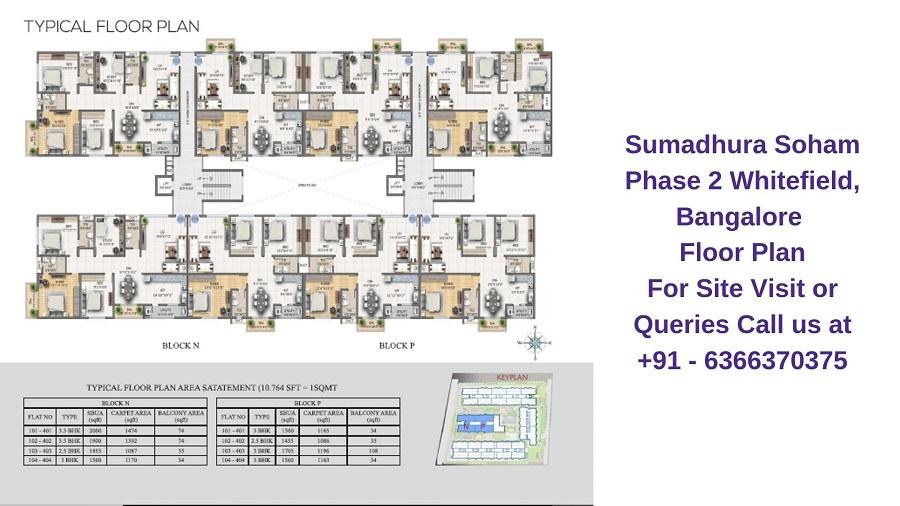 Sumadhura Soham Phase 2 Whitefield, Bangalore Floor Plan