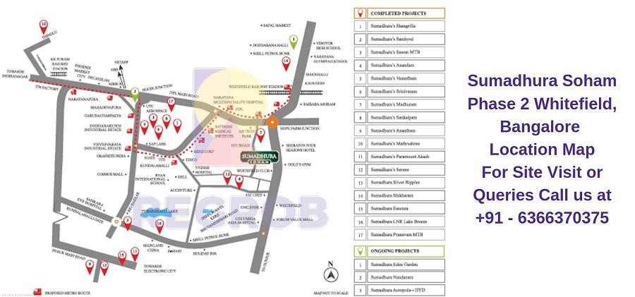 Sumadhura Soham Phase 2 Whitefield, Bangalore Location Map