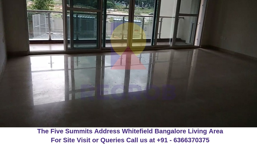 The Five Summits Address Whitefield Bangalore Living Area