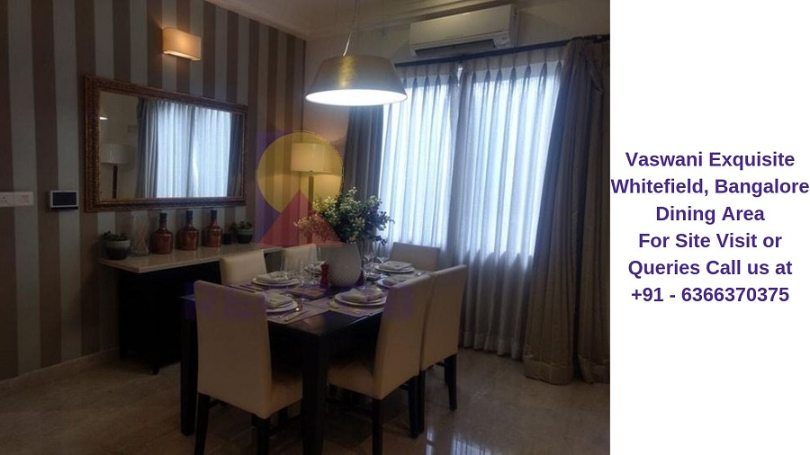 Vaswani Exquisite Whitefield, Bangalore Dining Area