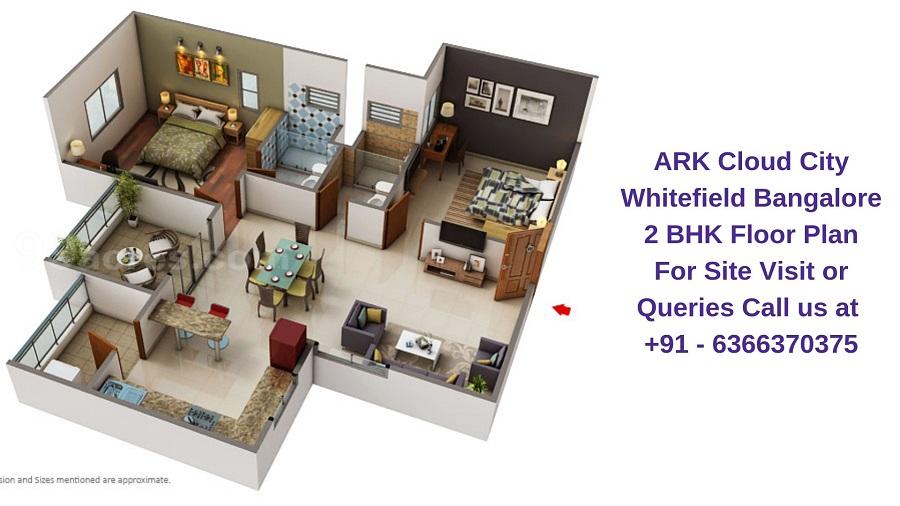 ARK Cloud City Whitefield Bangalore 2 BHK Floor Plan