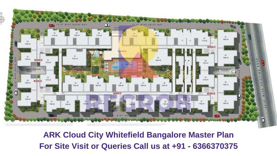 ARK Cloud City Whitefield Bangalore Master Plan