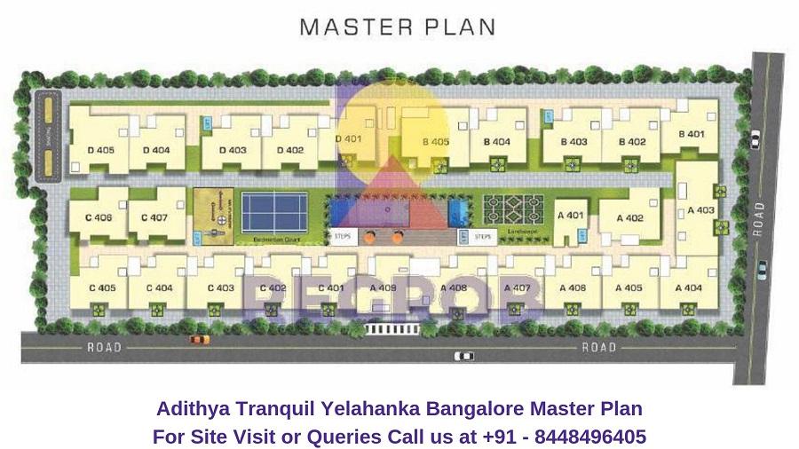 Adithya Tranquil Yelahanka Bangalore Master Plan