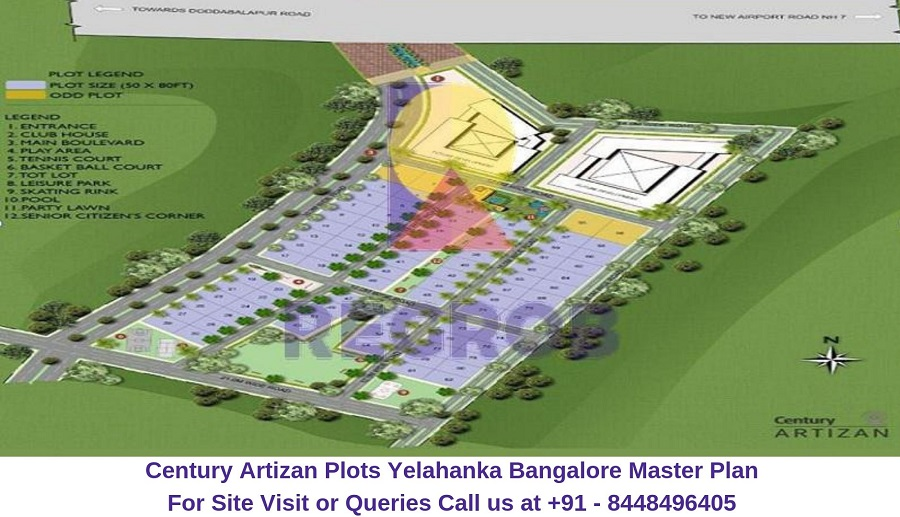 Century Artizan Plots Yelahanka Bangalore Master Plan