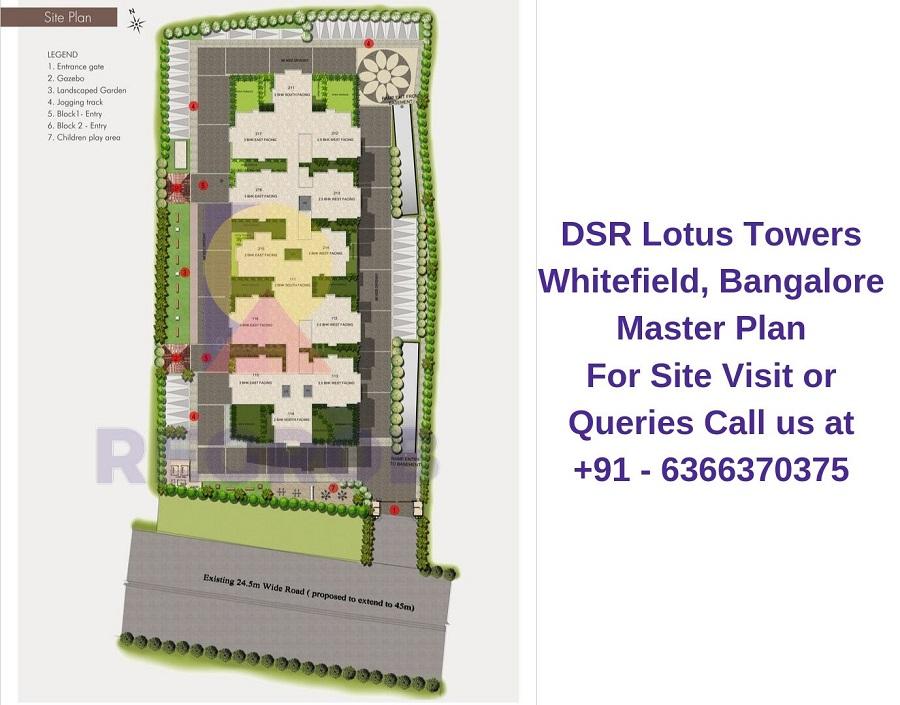 DSR Lotus Towers Whitefield,Bangalore Master Plan