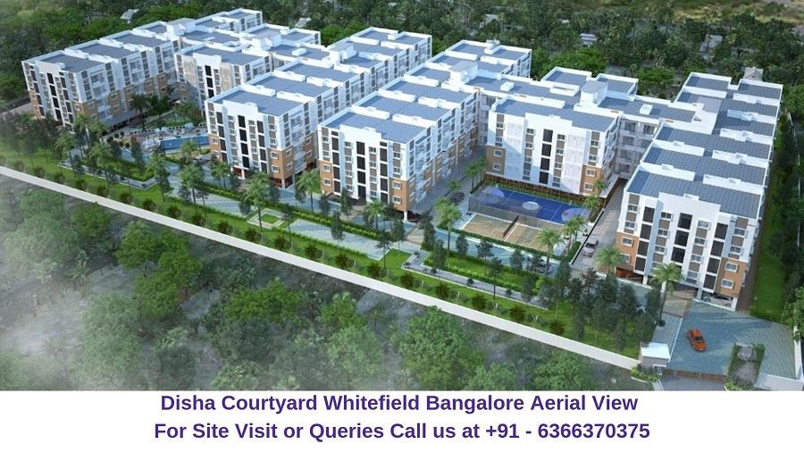 Disha Courtyard Whitefield Bangalore Aerial View