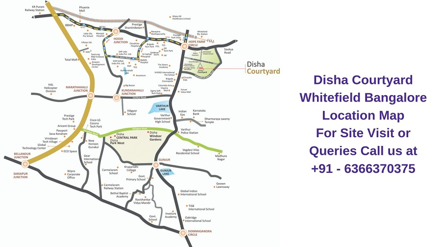 Disha Courtyard Whitefield Bangalore Location Map