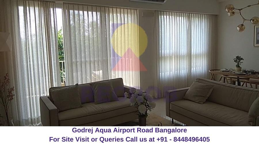 Godrej Aqua Airport Road Bangalore Living Area