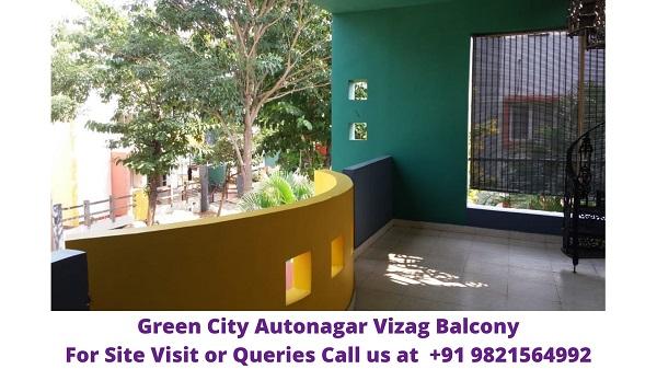 Green City Autonagar Vizag Balcony