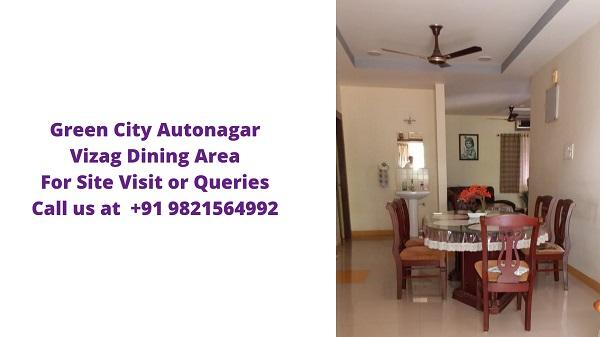 Green City Autonagar Vizag Dining Area