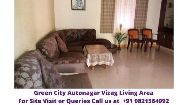 Green City Autonagar Vizag Living Area