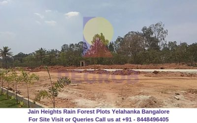 Jain Heights Rain Forest Plots Yelahanka Bangalore Actual Image