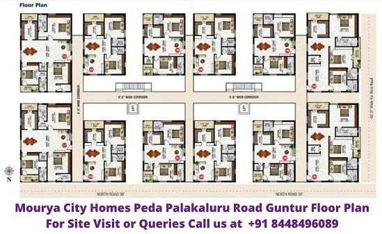 Mourya City Homes Peda Palakaluru Road Guntur Floor Plan
