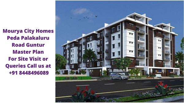 Mourya City Homes Peda Palakaluru Road Guntur Master Plan