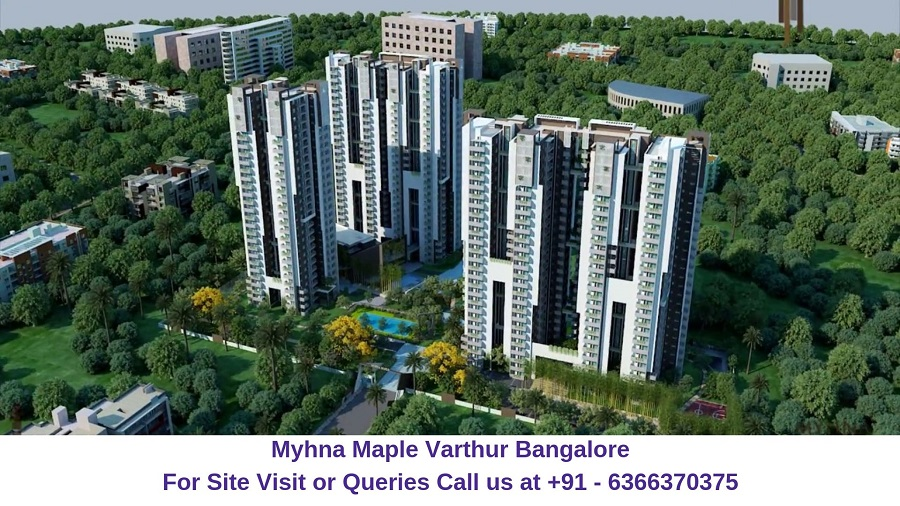 Myhna Maple Varthur Road Bangalore Aerial View