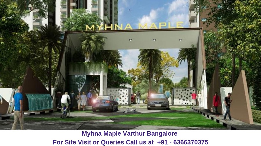 Myhna Maple Varthur Road Bangalore Entrance Gate