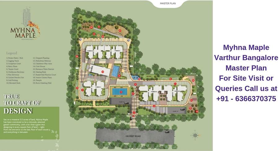 Myhna Maple Varthur Road Bangalore Master Plan