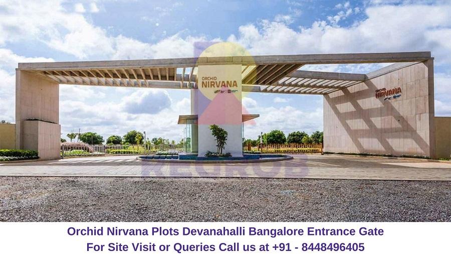 Orchid Nirvana Plots Devanahalli Bangalore Entrance