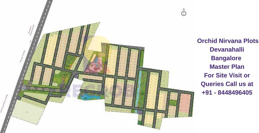 Orchid Nirvana Plots Devanahalli Bangalore Master Plan