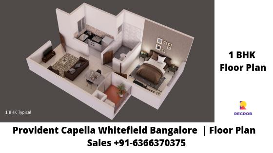 Provident Capella 1 BHK Floor Plan