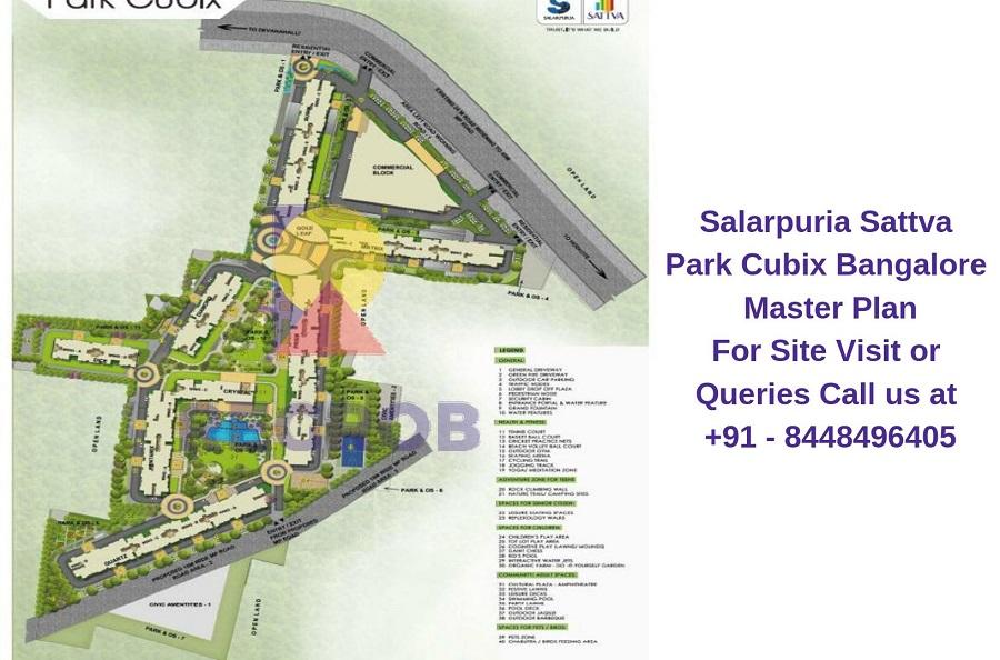 Salarpuria Sattva Park Cubix Devanahalli Bangalore Master Plan