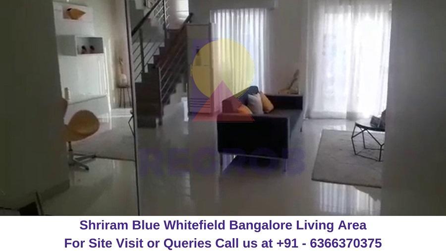 Shriram Blue Whitefield Bangalore Living Area