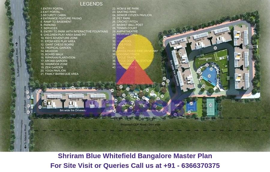 Shriram Blue Whitefield Bangalore Master Plan
