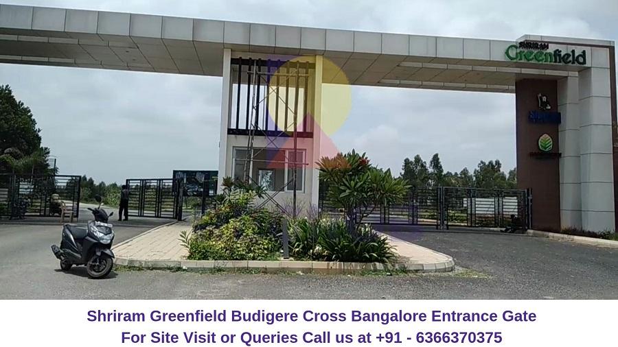 Shriram Greenfield Budigere Cross,Bangalore Entrance Gate