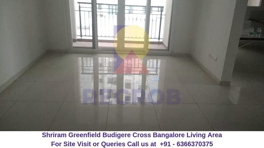 Shriram Greenfield Budigere Cross,Bangalore Living Area