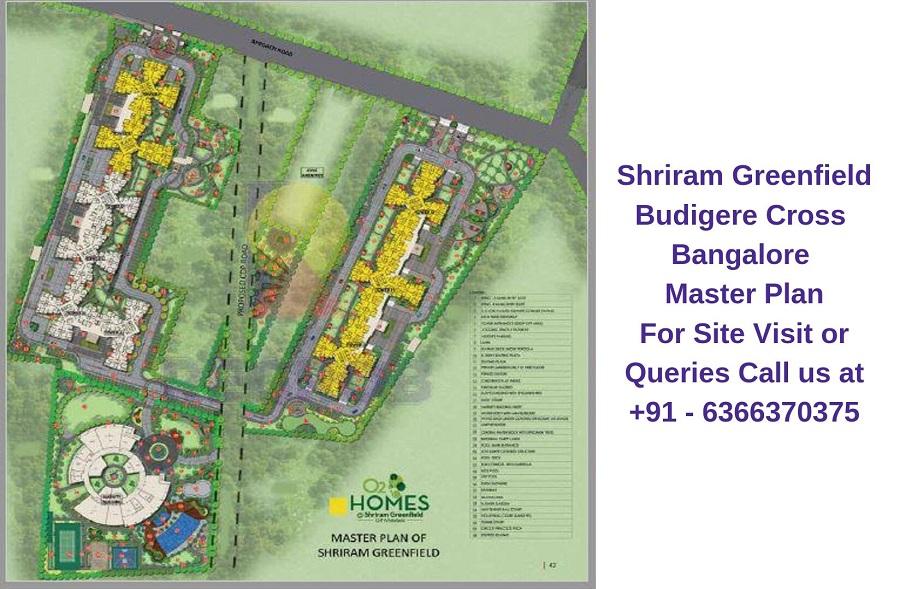 Shriram Greenfield Budigere Cross,Bangalore Master Plan