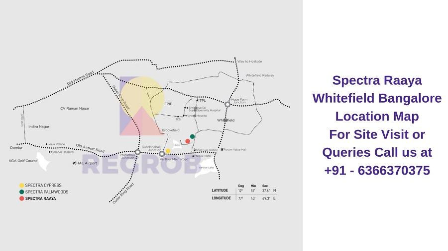 Spectra Raaya Whitefield Bangalore Location Map