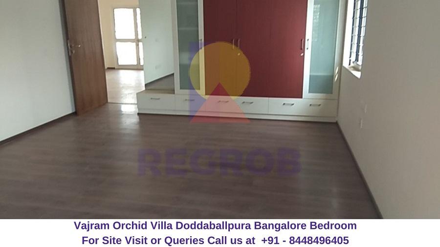 Vajram Orchid Villa Doddaballpura Road Bangalore Bedroom