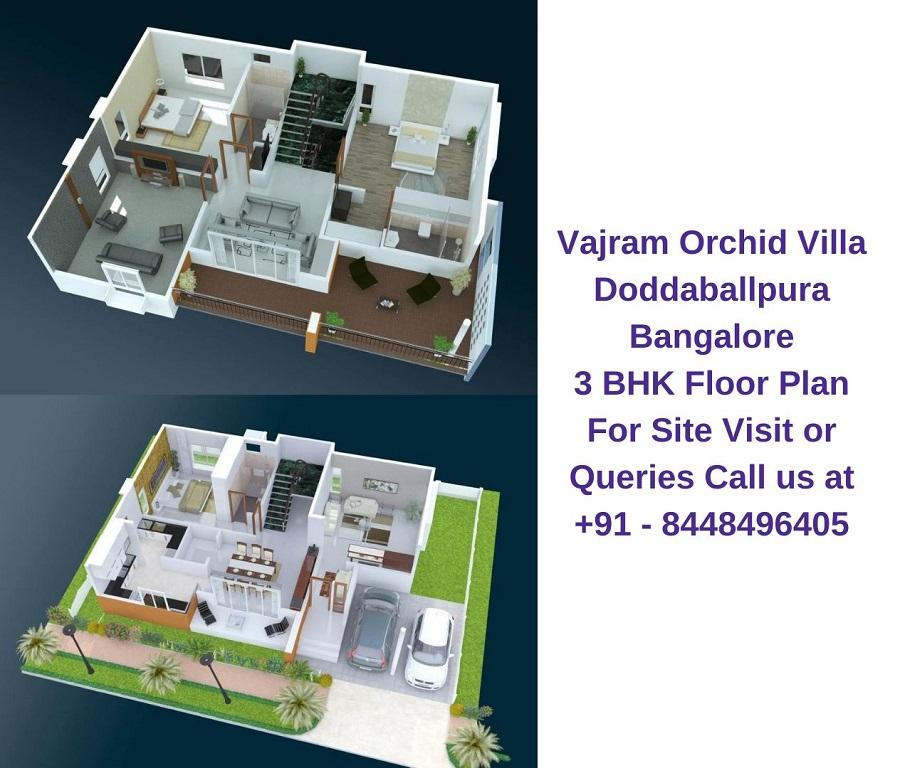Vajram Orchid Villa Doddaballpura Road Bangalore Floor plan