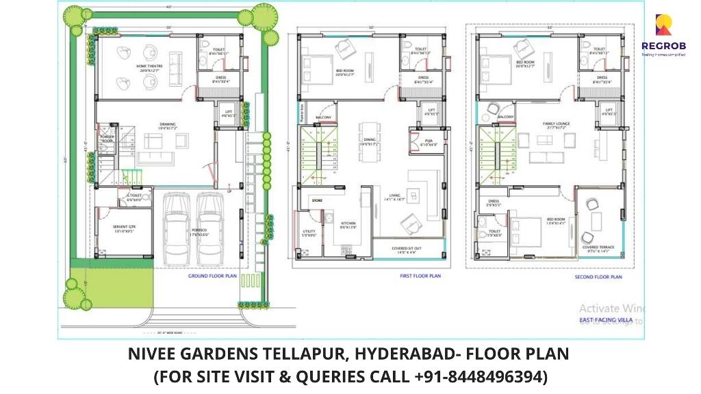 Nivee Gardens Villa Telapur Hyderabad