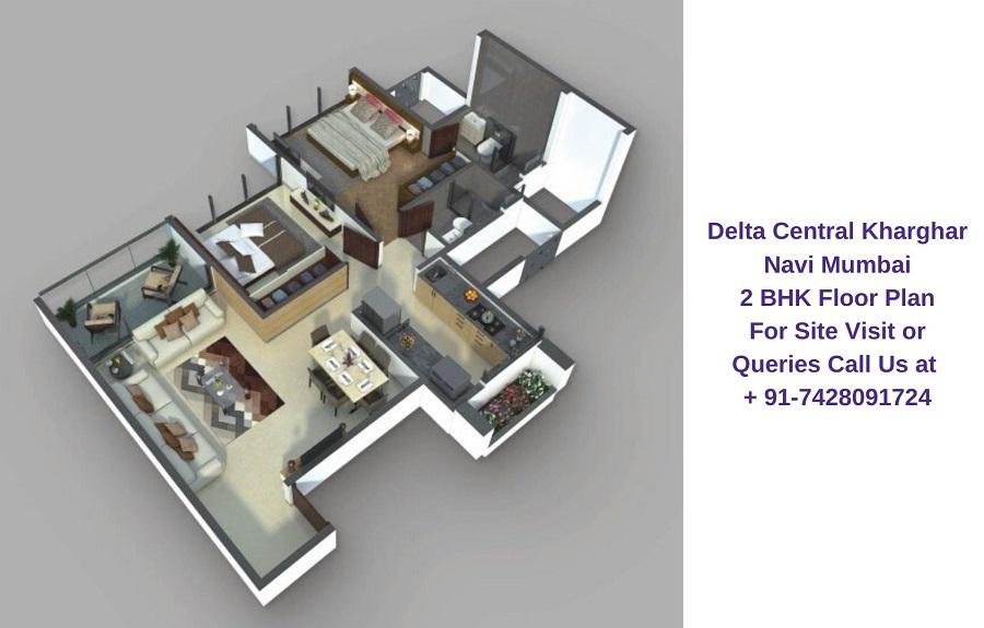 Balaji Delta Central Kharghar Navi Mumbai 2 BHK Floor Plan