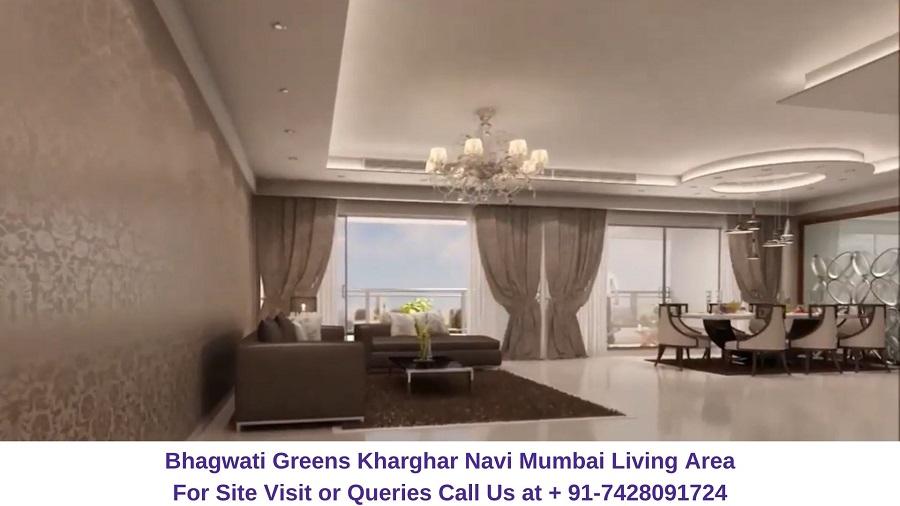 Bhagwati Greens Kharghar Navi Mumbai Living Room