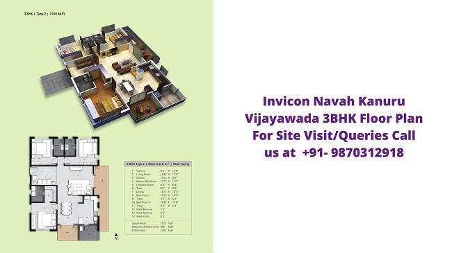 Invicon Navah Kanuru Vijayawada 3bhk floor Plan